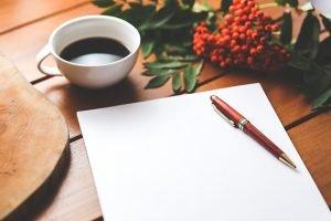 foglio bianco per appunti
